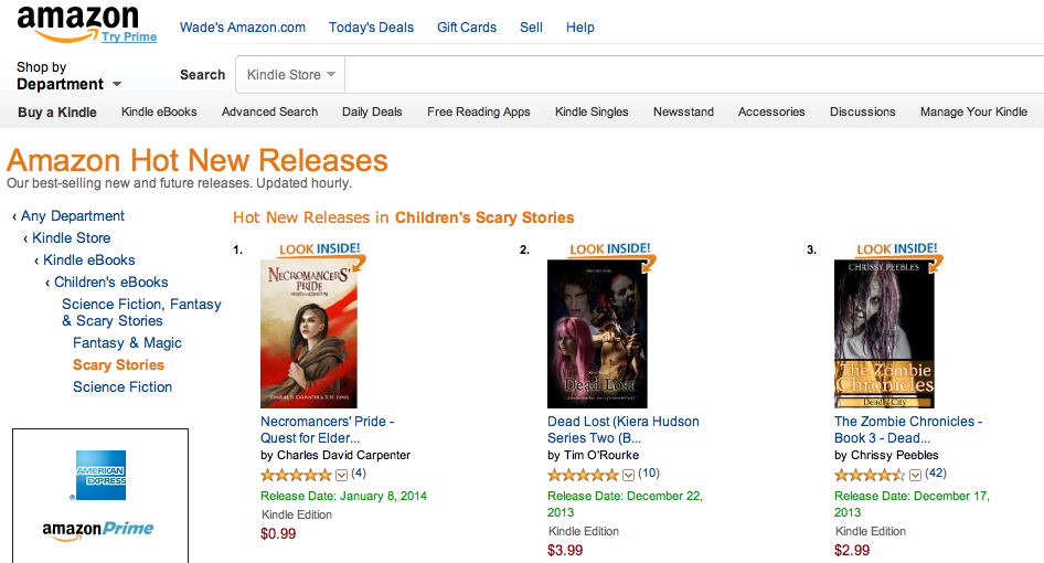 #1 on Amazon's Hot New Releases